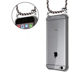 Cadorabo Handy Kette für Apple iPhone 6 PLUS / iPhone 6S PLUS in DUNKELBLAU GELB - Silikon Necklace Umhänge Hülle mit Silber Ringen, Kordel Band Schnur und abnehmbarem Etui - Schutzhülle - Vorschau 5