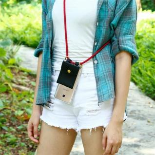 Cadorabo Handy Kette für Samsung Galaxy A5 2017 in RUBIN ROT - Silikon Necklace Umhänge Hülle mit Gold Ringen, Kordel Band Schnur und abnehmbarem Etui ? Schutzhülle - Vorschau 4