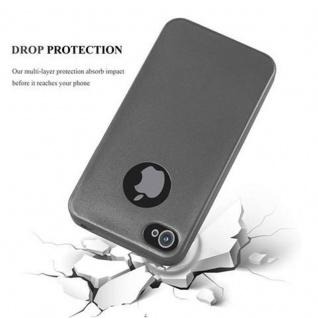 Cadorabo Hülle für Apple iPhone 4 / iPhone 4S in METALLIC GRAU - Handyhülle aus flexiblem TPU Silikon - Silikonhülle Schutzhülle Ultra Slim Soft Back Cover Case Bumper - Vorschau 4