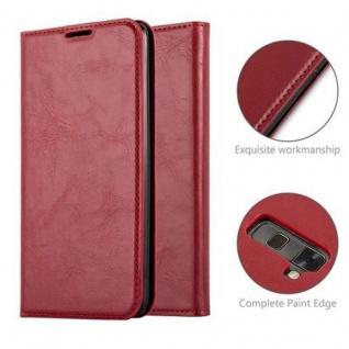 Cadorabo Hülle für LG STYLUS 2 in APFEL ROT Handyhülle mit Magnetverschluss, Standfunktion und Kartenfach Case Cover Schutzhülle Etui Tasche Book Klapp Style - Vorschau 2