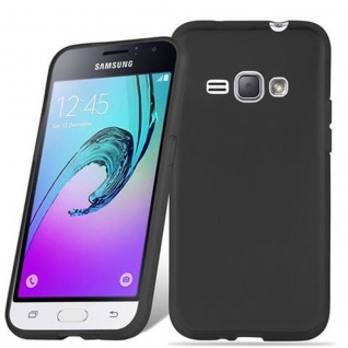Cadorabo Hülle für Samsung Galaxy J1 2016 in SCHWARZ - Handyhülle aus flexiblem TPU Silikon - Silikonhülle Schutzhülle Ultra Slim Soft Back Cover Case Bumper
