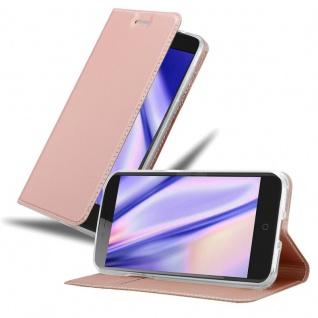 Cadorabo Hülle für ZTE Blade V7 in CLASSY ROSÉ GOLD - Handyhülle mit Magnetverschluss, Standfunktion und Kartenfach - Case Cover Schutzhülle Etui Tasche Book Klapp Style