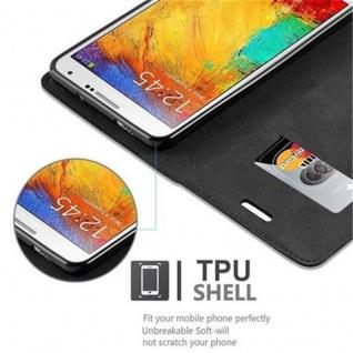 Cadorabo Hülle für Samsung Galaxy NOTE 3 in NACHT SCHWARZ - Handyhülle mit Magnetverschluss, Standfunktion und Kartenfach - Case Cover Schutzhülle Etui Tasche Book Klapp Style - Vorschau 4