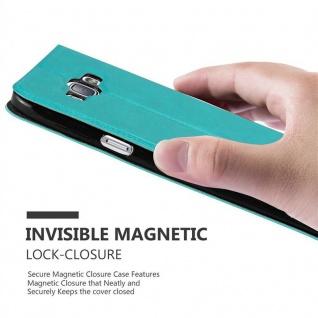 Cadorabo Hülle für Samsung Galaxy A8 2015 in MINT TÜRKIS ? Handyhülle mit Magnetverschluss, Standfunktion und 2 Sichtfenstern ? Case Cover Schutzhülle Etui Tasche Book Klapp Style - Vorschau 5