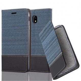 Cadorabo Hülle für Samsung Galaxy J5 2017 in DUNKEL BLAU SCHWARZ - Handyhülle mit Magnetverschluss, Standfunktion und Kartenfach - Case Cover Schutzhülle Etui Tasche Book Klapp Style