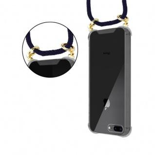 Cadorabo Handy Kette für Apple iPhone 8 PLUS / 7 PLUS / 7S PLUS in TIEF BLAU - Silikon Necklace Umhänge Hülle mit Gold Ringen, Kordel Band Schnur und abnehmbarem Etui ? Schutzhülle - Vorschau 5