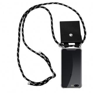 Cadorabo Handy Kette für OnePlus 5 in SCHWARZ SILBER - Silikon Necklace Umhänge Hülle mit Silber Ringen, Kordel Band Schnur und abnehmbarem Etui - Schutzhülle