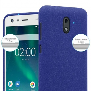 Cadorabo Hülle für Nokia 2 2017 in FROST DUNKEL BLAU - Handyhülle aus flexiblem TPU Silikon - Silikonhülle Schutzhülle Ultra Slim Soft Back Cover Case Bumper - Vorschau 5
