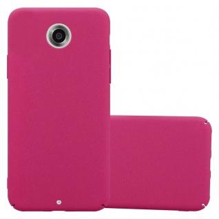 Cadorabo Hülle für Motorola NEXUS 6 in FROSTY PINK - Hardcase Handyhülle aus Plastik gegen Kratzer und Stöße - Schutzhülle Bumper Ultra Slim Back Case Hard Cover