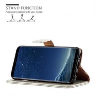 Cadorabo Hülle für Samsung Galaxy S8 PLUS in CAPPUCCINO BRAUN ? Handyhülle mit Magnetverschluss, Standfunktion und Kartenfach ? Case Cover Schutzhülle Etui Tasche Book Klapp Style - Vorschau 5