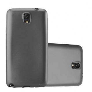 Cadorabo Hülle für Samsung Galaxy NOTE 3 in METALLIC GRAU Handyhülle aus flexiblem TPU Silikon Silikonhülle Schutzhülle Ultra Slim Soft Back Cover Case Bumper