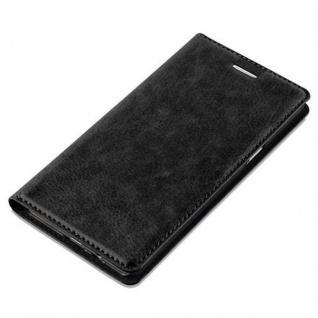 Cadorabo Hülle für Samsung Galaxy A5 2015 in NACHT SCHWARZ - Handyhülle mit Magnetverschluss, Standfunktion und Kartenfach - Case Cover Schutzhülle Etui Tasche Book Klapp Style - Vorschau 4
