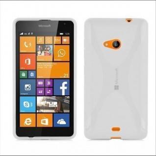 Cadorabo Hülle für Nokia Lumia 535 in HALB TRANSPARENT ? Handyhülle aus flexiblem TPU Silikon ? Silikonhülle Schutzhülle Ultra Slim Soft Back Cover Case Bumper
