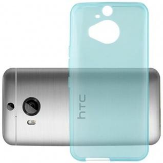 Cadorabo Hülle für HTC ONE M9 PLUS (3.Gen.) - Hülle in TRANSPARENT BLAU ? Handyhülle aus TPU Silikon im Ultra Slim 'AIR' Design - Ultra Slim Soft Backcover Case Bumper