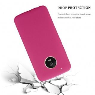 Cadorabo Hülle für Motorola MOTO G5 PLUS in FROSTY PINK - Hardcase Handyhülle aus Plastik gegen Kratzer und Stöße - Schutzhülle Bumper Ultra Slim Back Case Hard Cover - Vorschau 4