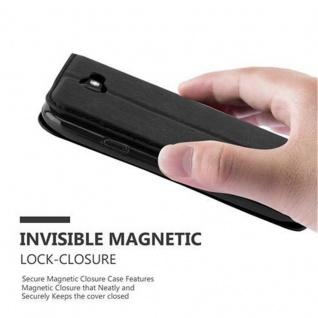 Cadorabo Hülle für LG K3 2017 in NACHT SCHWARZ - Handyhülle mit Magnetverschluss, Standfunktion und Kartenfach - Case Cover Schutzhülle Etui Tasche Book Klapp Style - Vorschau 4