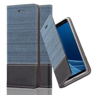 Cadorabo Hülle für Nokia 8 Sirocco in DUNKEL BLAU SCHWARZ - Handyhülle mit Magnetverschluss, Standfunktion und Kartenfach - Case Cover Schutzhülle Etui Tasche Book Klapp Style