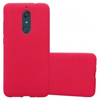 Cadorabo Hülle für WIKO VIEW XL in FROST ROT - Handyhülle aus flexiblem TPU Silikon - Silikonhülle Schutzhülle Ultra Slim Soft Back Cover Case Bumper