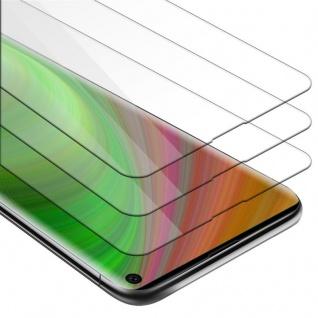 Cadorabo 3x Panzer Folie für Samsung Galaxy S10 - Schutzfolie in KRISTALL KLAR - 3er Pack Gehärtetes (Tempered) Display-Schutzglas in 9H Härte mit 3D Touch Kompatibilität