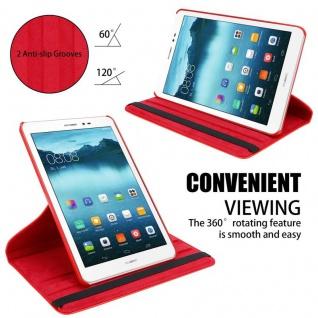"""Cadorabo Tablet Hülle für Huawei MediaPad T1 8 (8, 0"""" Zoll) in MOHN ROT Book Style Schutzhülle OHNE Auto Wake Up mit Standfunktion und Gummiband Verschluss - Vorschau 5"""
