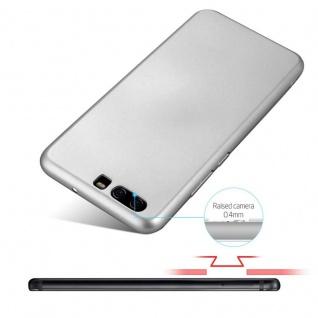 Cadorabo Hülle für Huawei P10 in METALL SILBER - Hardcase Handyhülle aus Plastik gegen Kratzer und Stöße - Schutzhülle Bumper Ultra Slim Back Case Hard Cover - Vorschau 4