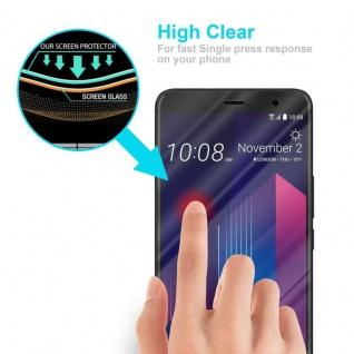 Cadorabo Panzer Folie für HTC U11 PLUS - Schutzfolie in KRISTALL KLAR - Gehärtetes (Tempered) Display-Schutzglas in 9H Härte mit 3D Touch Kompatibilität - Vorschau 5