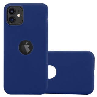 Cadorabo Hülle für Apple iPhone 11 (XI) in CANDY DUNKEL BLAU - Handyhülle aus flexiblem TPU Silikon - Silikonhülle Schutzhülle Ultra Slim Soft Back Cover Case Bumper