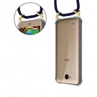 Cadorabo Handy Kette für LG X Power 2 in TIEF BLAU - Silikon Necklace Umhänge Hülle mit Gold Ringen, Kordel Band Schnur und abnehmbarem Etui ? Schutzhülle - Vorschau 5