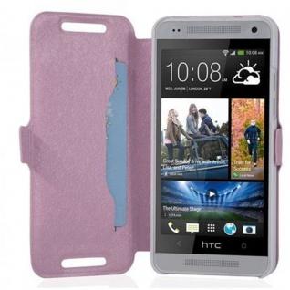 Cadorabo Hülle für HTC ONE MINI M4 (1.Gen.) - Hülle in ICY ROSE ? Handyhülle mit Standfunktion und Kartenfach im Ultra Slim Design - Case Cover Schutzhülle Etui Tasche Book - Vorschau 2