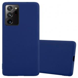 Cadorabo Hülle für Samsung Galaxy NOTE 20 PLUS in CANDY DUNKEL BLAU Handyhülle aus flexiblem TPU Silikon Silikonhülle Schutzhülle Ultra Slim Soft Back Cover Case Bumper