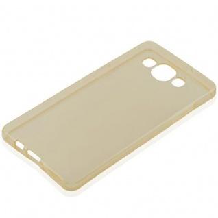 Cadorabo Hülle für Samsung Galaxy A5 2015 in TRANSPARENT GOLD - Handyhülle aus flexiblem TPU Silikon - Silikonhülle Schutzhülle Ultra Slim Soft Back Cover Case Bumper - Vorschau 4