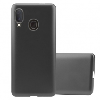 Cadorabo Hülle für Samsung Galaxy A20e in METALLIC GRAU - Handyhülle aus flexiblem TPU Silikon - Silikonhülle Schutzhülle Ultra Slim Soft Back Cover Case Bumper