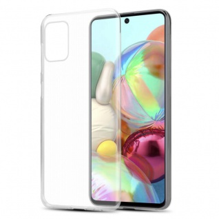 Cadorabo Hülle für Samsung Galaxy A71 in VOLL TRANSPARENT Handyhülle aus flexiblem TPU Silikon Silikonhülle Schutzhülle Ultra Slim Soft Back Cover Case Bumper
