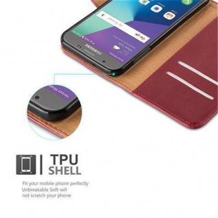 Cadorabo Hülle für Samsung Galaxy J5 2017 US Version in WEIN ROT ? Handyhülle mit Magnetverschluss, Standfunktion und Kartenfach ? Case Cover Schutzhülle Etui Tasche Book Klapp Style - Vorschau 2
