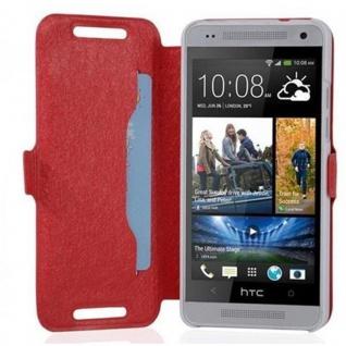 Cadorabo Hülle für HTC ONE MINI M4 (1.Gen.) - Hülle in ICY ROT - Handyhülle mit Standfunktion und Kartenfach im Ultra Slim Design - Case Cover Schutzhülle Etui Tasche Book - Vorschau 2