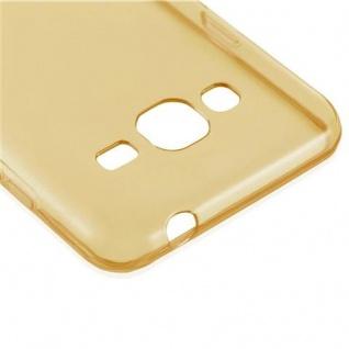 Cadorabo Hülle für Samsung Galaxy J3 2016 in TRANSPARENT GOLD - Handyhülle aus flexiblem TPU Silikon - Silikonhülle Schutzhülle Ultra Slim Soft Back Cover Case Bumper - Vorschau 2