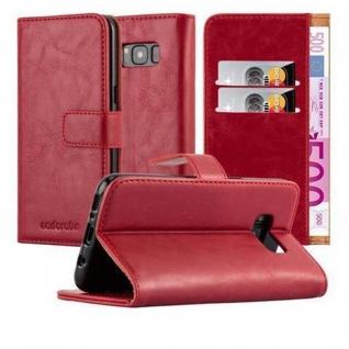 Cadorabo Hülle für Samsung Galaxy S8 in WEIN ROT Handyhülle mit Magnetverschluss, Standfunktion und Kartenfach Case Cover Schutzhülle Etui Tasche Book Klapp Style