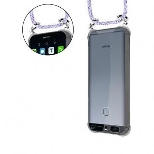Cadorabo Handy Kette für Huawei P9 in UNICORN - Silikon Necklace Umhänge Hülle mit Silber Ringen, Kordel Band Schnur und abnehmbarem Etui - Schutzhülle - Vorschau 5