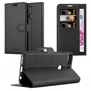 Cadorabo Hülle für HTC Desire 12 PLUS in PHANTOM SCHWARZ - Handyhülle mit Magnetverschluss, Standfunktion und Kartenfach - Case Cover Schutzhülle Etui Tasche Book Klapp Style