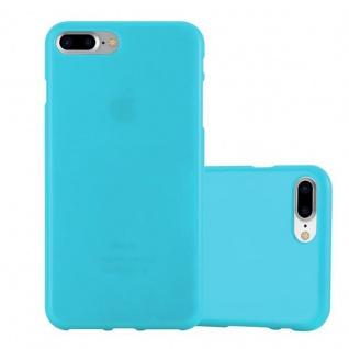 Cadorabo Hülle für Apple iPhone 8 PLUS / iPhone 7 PLUS / iPhone 7S PLUS - Hülle in JELLY HELL BLAU ? Handyhülle aus TPU Silikon im Jelly Design - Ultra Slim Soft Backcover Case Bumper