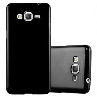 Cadorabo Hülle für Samsung Galaxy GRAND PRIME in JELLY SCHWARZ ? Handyhülle aus flexiblem TPU Silikon ? Silikonhülle Schutzhülle Ultra Slim Soft Back Cover Case Bumper