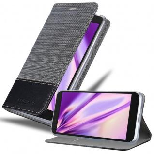 Cadorabo Hülle für Alcatel 1C 2019 in GRAU SCHWARZ - Handyhülle mit Magnetverschluss, Standfunktion und Kartenfach - Case Cover Schutzhülle Etui Tasche Book Klapp Style - Vorschau