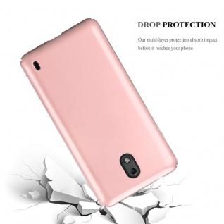 Cadorabo Hülle für Nokia 2 2017 in METALL ROSÉ GOLD - Hardcase Handyhülle aus Plastik gegen Kratzer und Stöße - Schutzhülle Bumper Ultra Slim Back Case Hard Cover - Vorschau 3