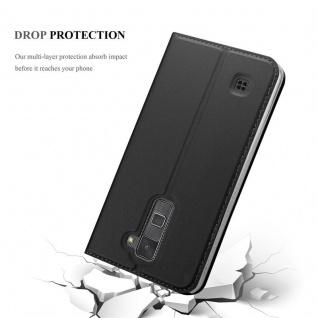 Cadorabo Hülle für LG Stylus 2 in CLASSY SCHWARZ - Handyhülle mit Magnetverschluss, Standfunktion und Kartenfach - Case Cover Schutzhülle Etui Tasche Book Klapp Style - Vorschau 5