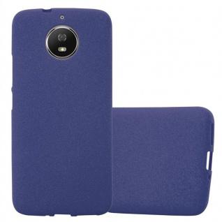 Cadorabo Hülle für Motorola MOTO G5s in FROST DUNKEL BLAU - Handyhülle aus flexiblem TPU Silikon - Silikonhülle Schutzhülle Ultra Slim Soft Back Cover Case Bumper