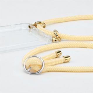 Cadorabo Handy Kette für OnePlus 5 in CREME BEIGE Silikon Necklace Umhänge Hülle mit Silber Ringen, Kordel Band Schnur und abnehmbarem Etui Schutzhülle - Vorschau 2
