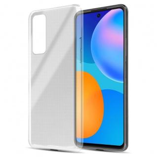 Cadorabo Hülle kompatibel mit Huawei P Smart 2021 in VOLL TRANSPARENT Handyhülle aus flexiblem TPU Silikon Silikonhülle Schutzhülle Ultra Slim Soft Back Cover Case Bumper