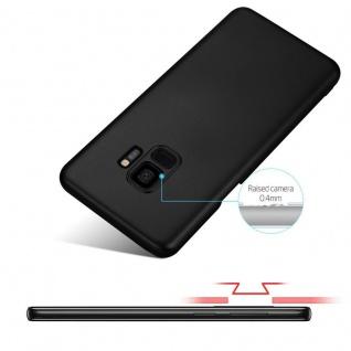 Cadorabo Hülle für Samsung Galaxy S9 in METALL SCHWARZ - Hardcase Handyhülle aus Plastik gegen Kratzer und Stöße - Schutzhülle Bumper Ultra Slim Back Case Hard Cover - Vorschau 4