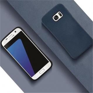 Cadorabo Hülle für Samsung Galaxy S7 - Hülle in MEERES BLAU - Small Waist Handyhülle mit rutschfestem Gummi-Rücken - Hard Case TPU Silikon Schutzhülle - Vorschau 4