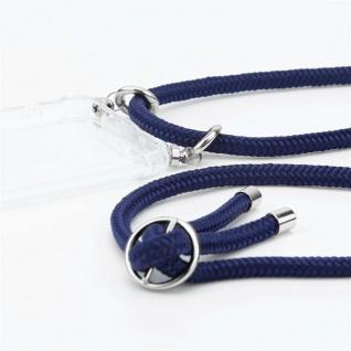 Cadorabo Handy Kette für Huawei P30 in TIEF BLAU - Silikon Necklace Umhänge Hülle mit Silber Ringen, Kordel Band Schnur und abnehmbarem Etui - Schutzhülle - Vorschau 2